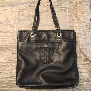 Gorgeous Tommy Hilfiger black tote bag